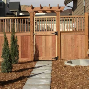 Cedar Wood Fence Gate