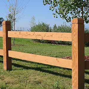 Milled Rail Fencing